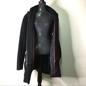 Cole Haan Wool Cashmere Blend Double Zip Coat